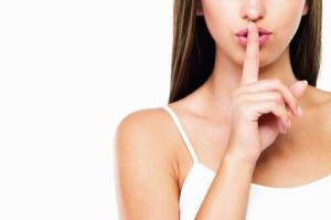 woman-hush-secret